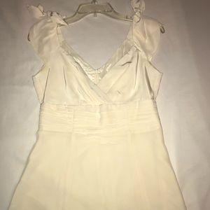 Nanette Lepore silk cream cap sleeve top, Size 4